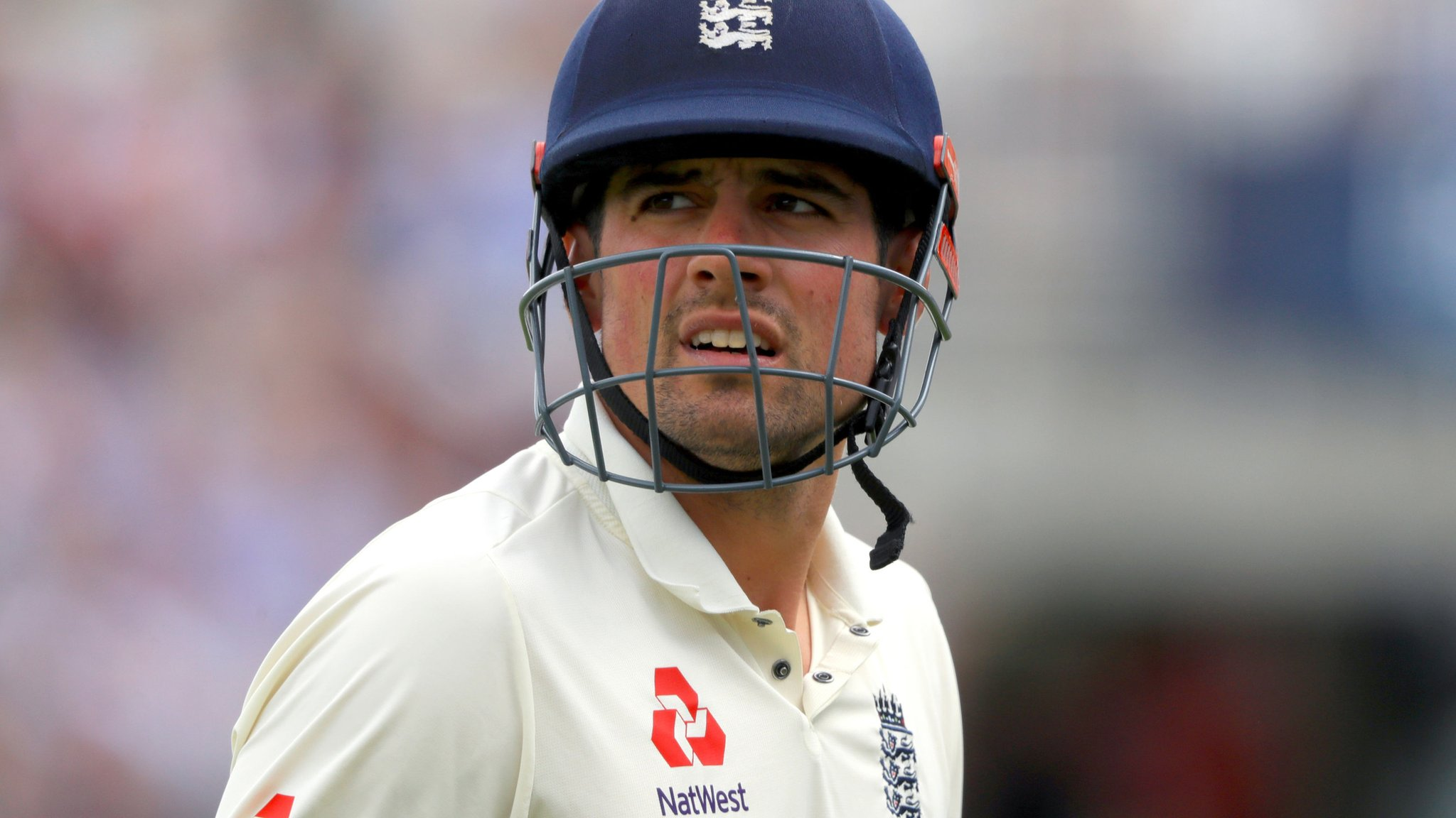 Watch: Cook out lbw as England toil in Test