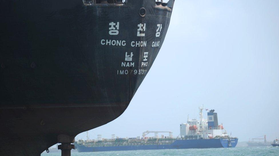 El Chong Chon Gang fue detenido en Panamá.