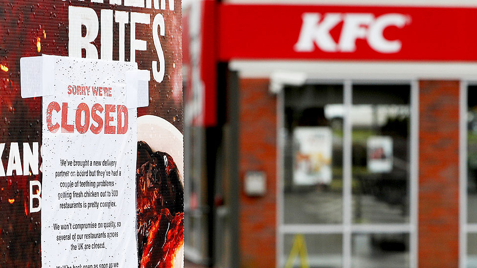 KFC shuts more stores in chicken chaos