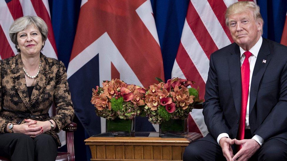 تيريزا ماي ودونالد ترامب