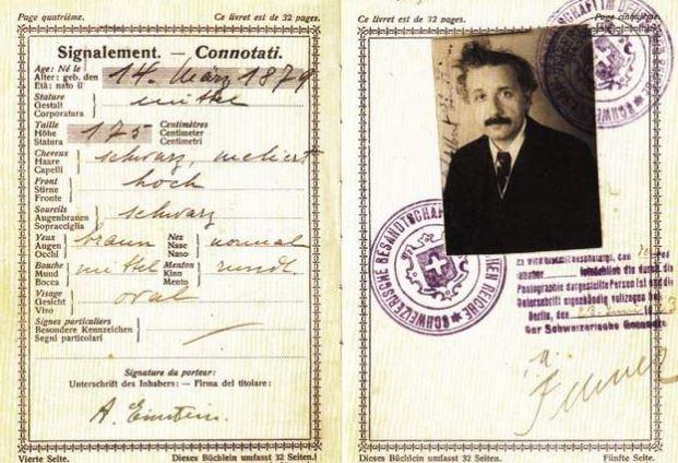 Pasaporte de Einstein