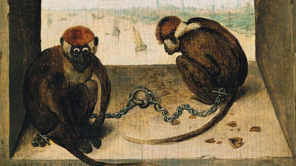"""La intrigante historia detrás del cuadro """"Dos monos"""" de Brueghel, uno ..."""