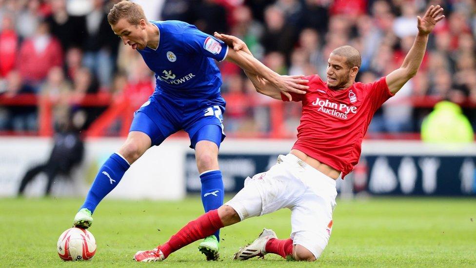 Harry Kane jugando para el Leicester en 2013