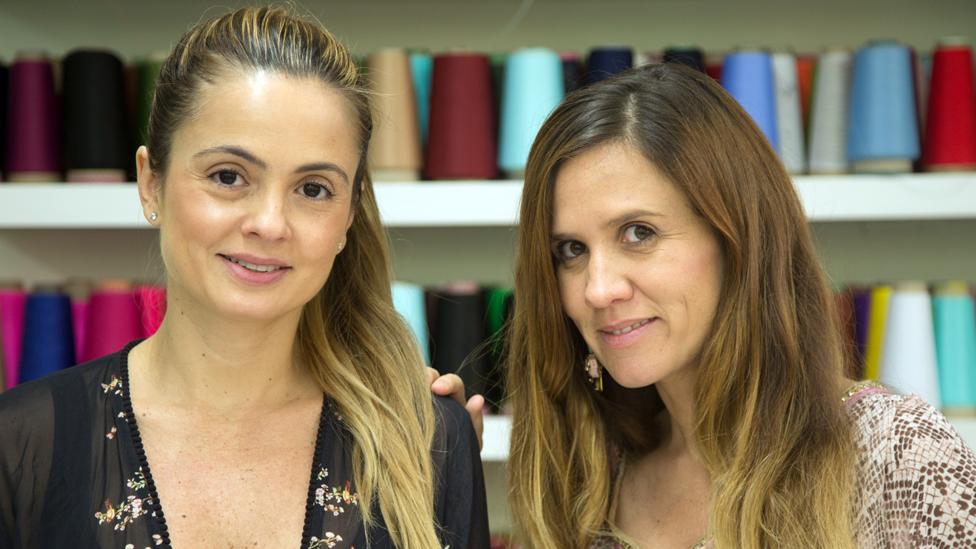Mariana Hinostroza y Catalina Alvarez