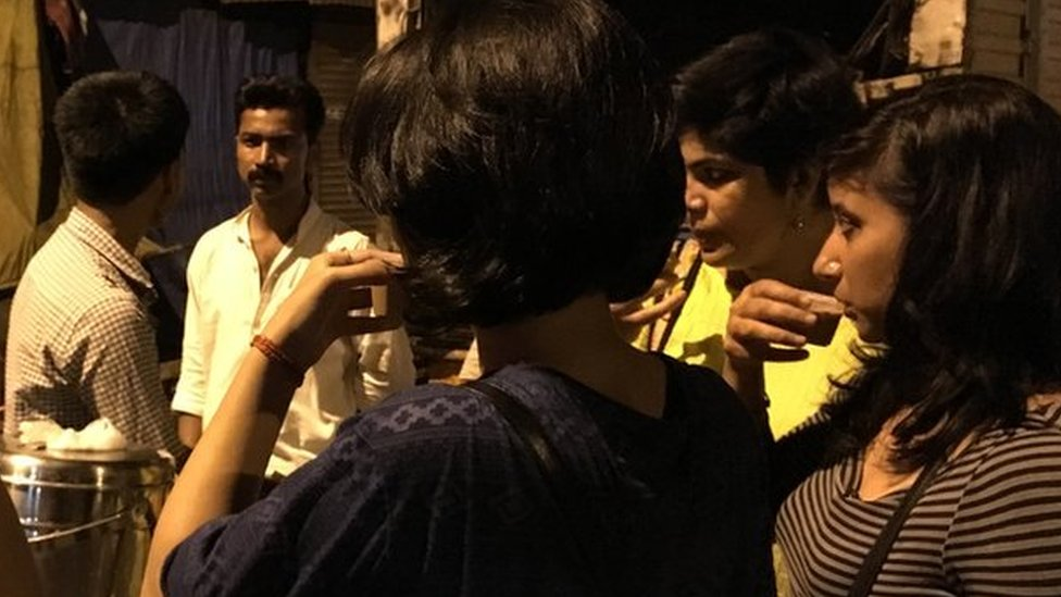 The Indian women loitering with intent