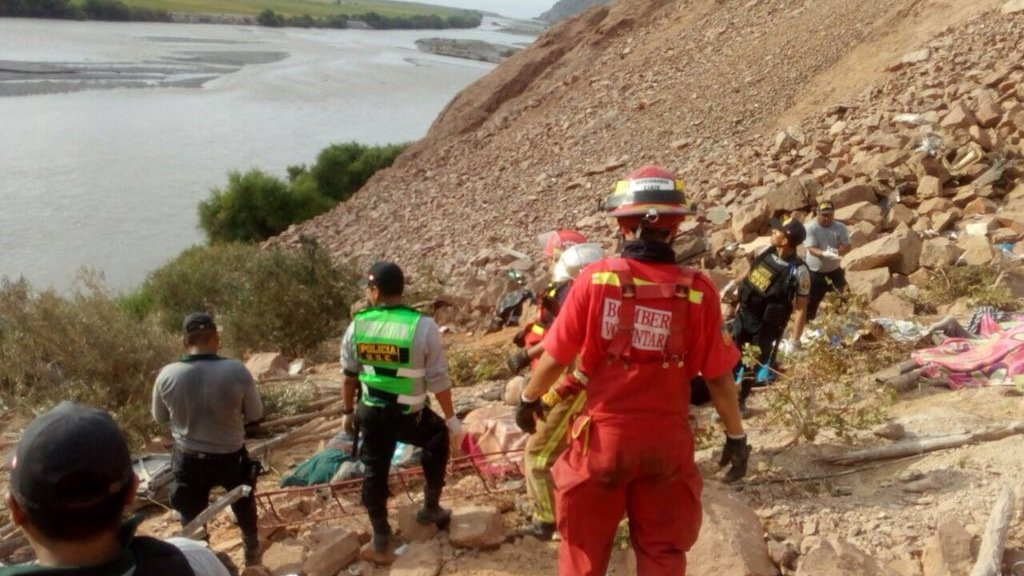 Peru coach plunges off Pan-American Highway killing dozens