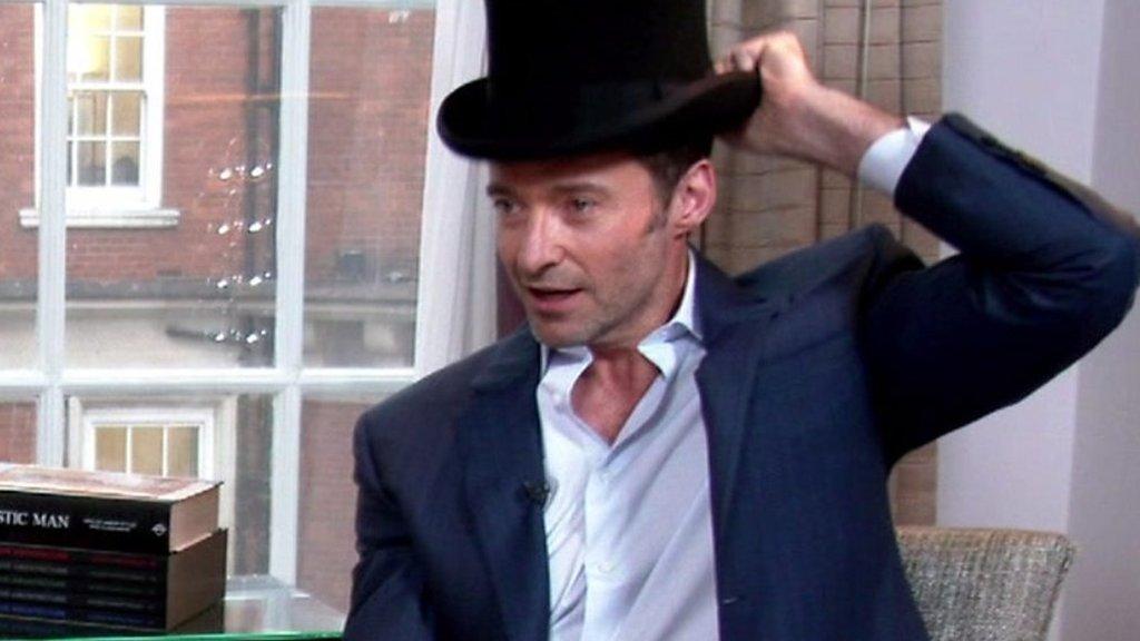 Hugh Jackman's novelty top hat trick