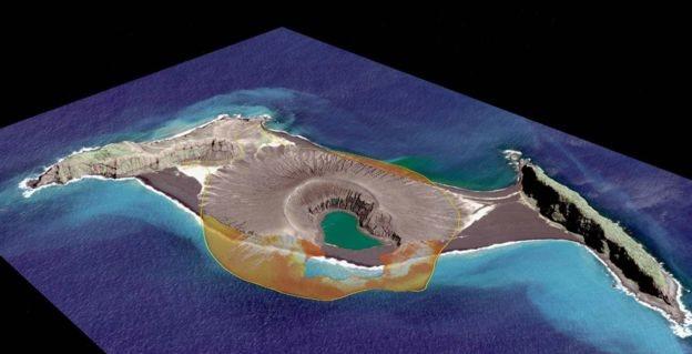 La isla en septiembre de 2017. (Foto: NASA 2017 Digital Globe)