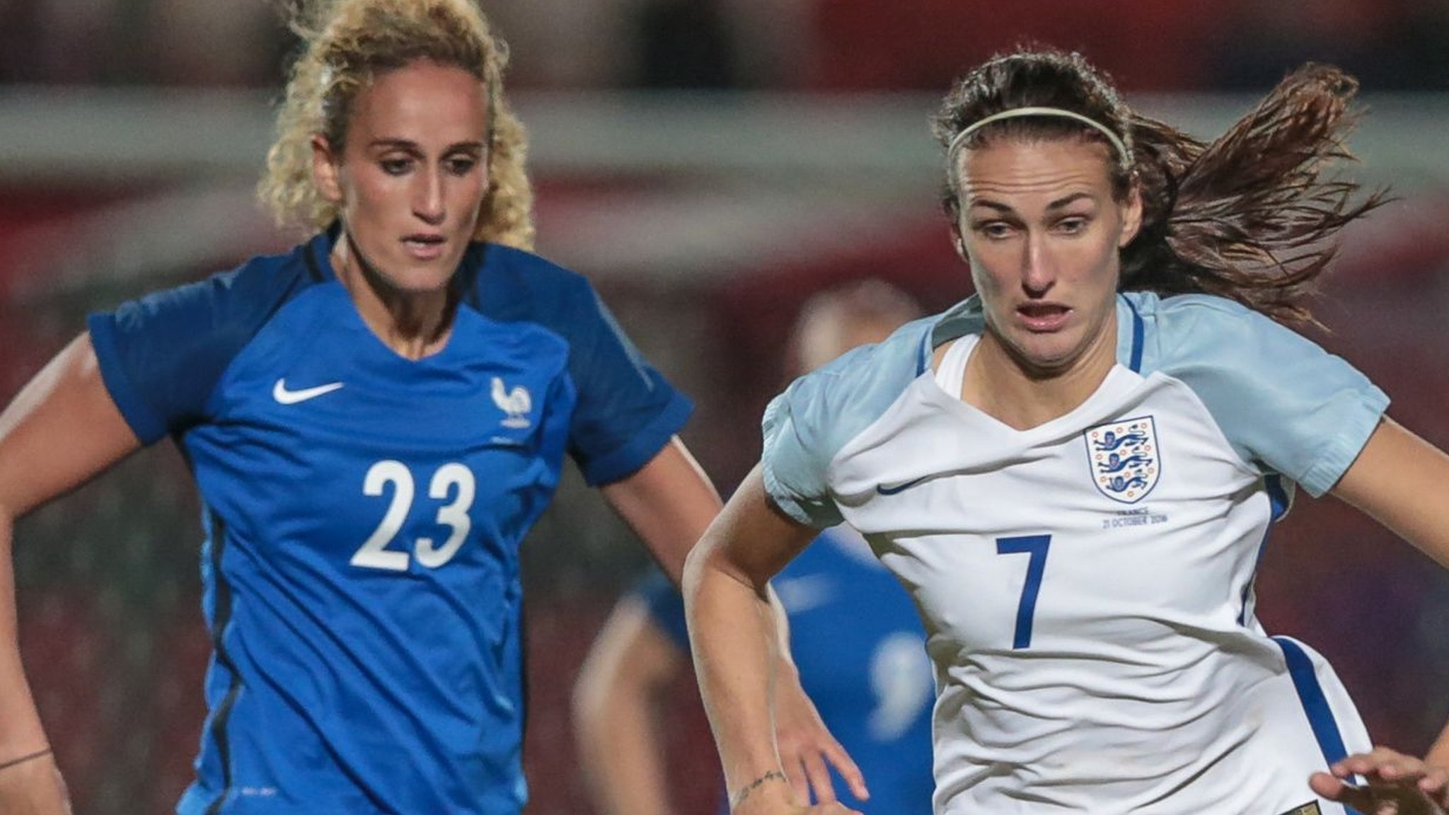 England women held by France
