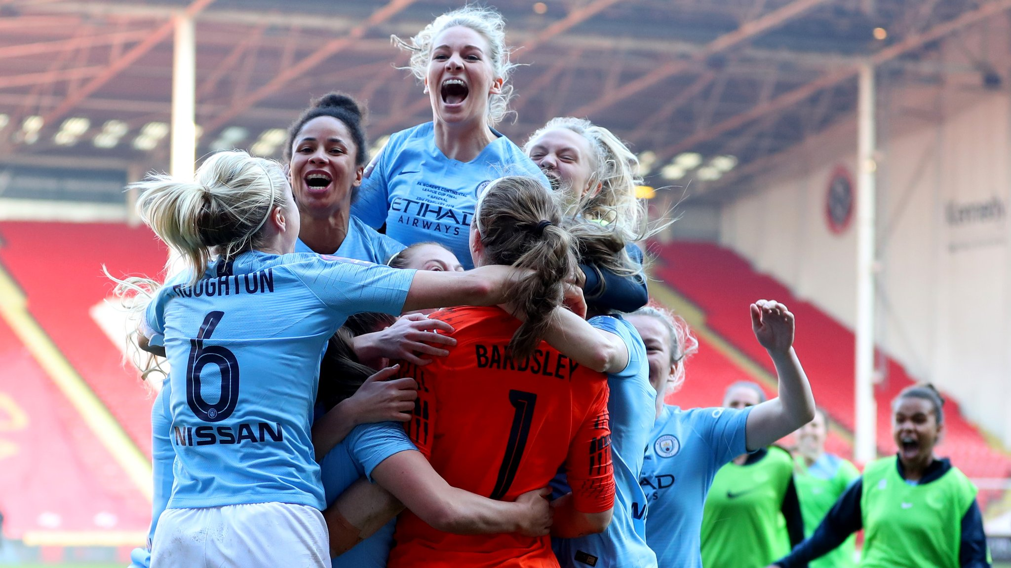 Women's Continental League Cup final: Arsenal 0-0 Manchester City (2-4 pens)