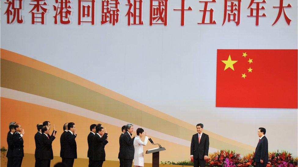 2012年胡錦濤第三次訪港,出席香港特別行政區成立十五週年紀念活動及新政府就職儀式。