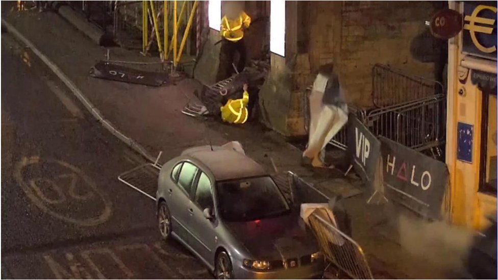 Bournemouth nightclub crash: CCTV shows car hitting doorman