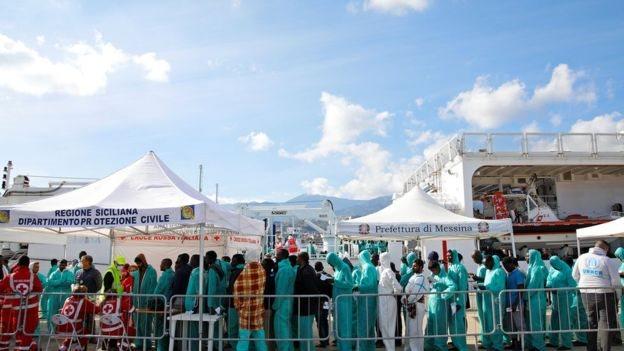 لاجئون في إيطاليا