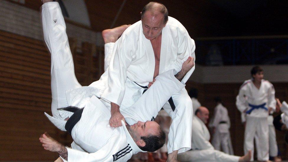 بوتين يمارس الجودو