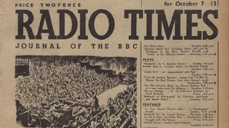 Radio Times front page for 7 October 1945