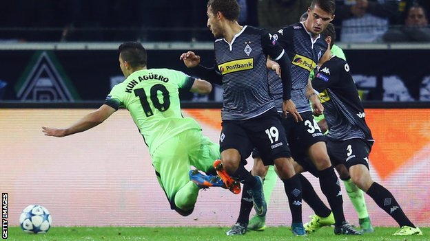 ไฮไลท์  Borussia Moenchengladbach 1 - 2 Manchester City