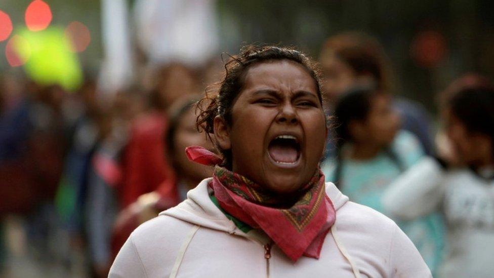 Protestas por Ayotzinapa.