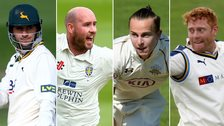 Alex Hales, Chris Rushworth, Tom Curran and Jonny Bairstow