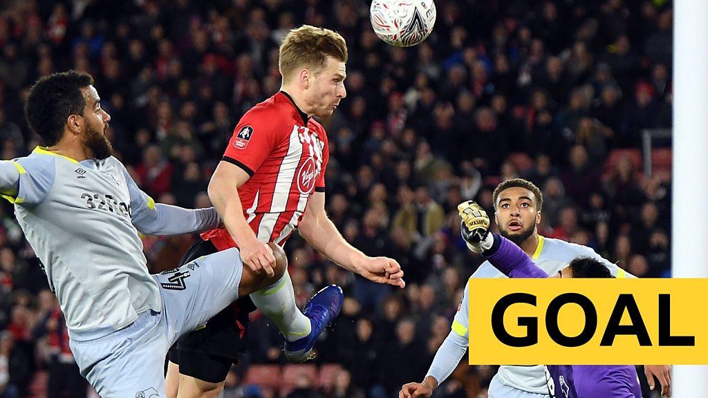 FA Cup: Southampton v Derby - Stuart Armstrong heads Saints into lead