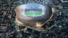 Artist's impression of the proposed new Stamford Bridge
