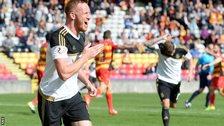 Adam Rooney gave Aberdeen a second-half lead