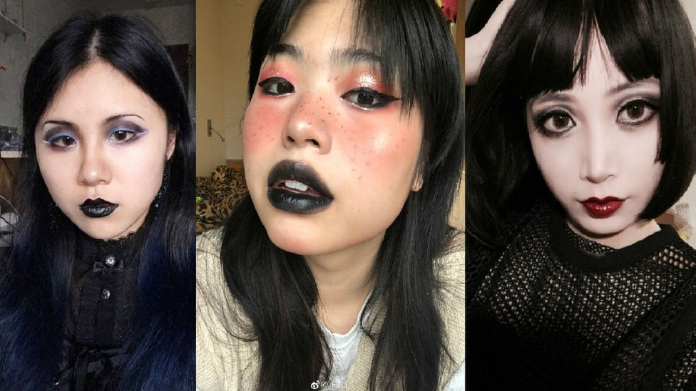Chinese goths post selfies in protest after subway incident