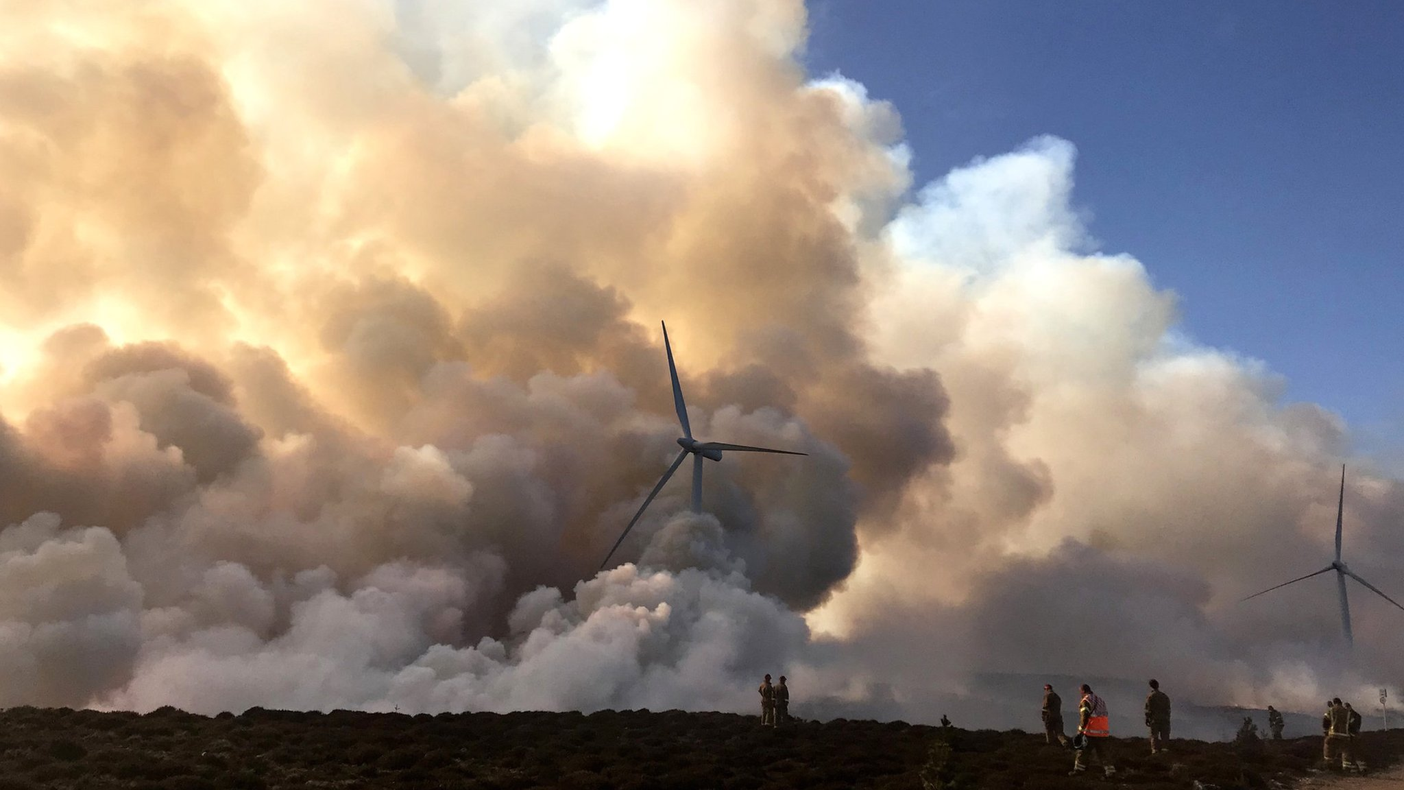 Crews called back to scene of major Moray wildfire