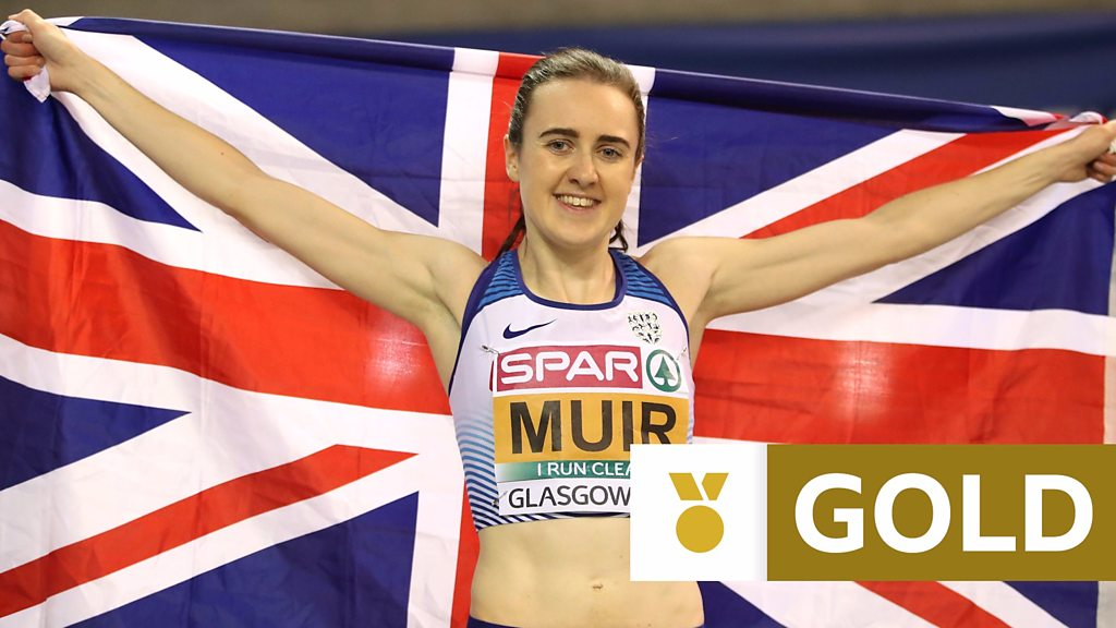 8a3b281a594 Watch  Muir wins second successive European Indoors double - Laura Muir  wins gold in the women s 1500m to complete a second successive European  Indoors ...