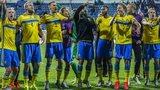 Sweden celebrating