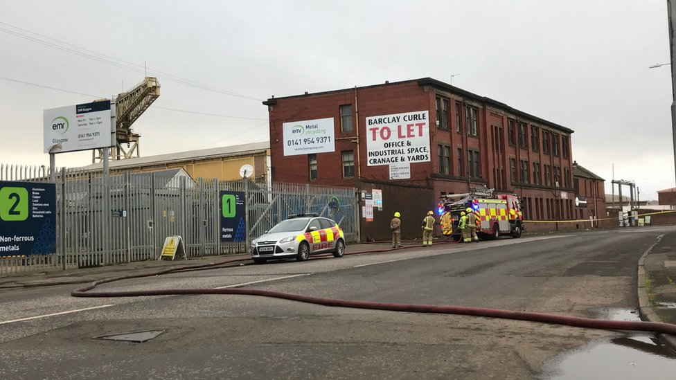 Emergency crews called to Glasgow factory 'explosion'