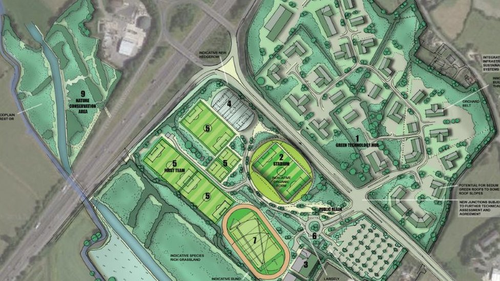 An artists' impression of the Eco Park
