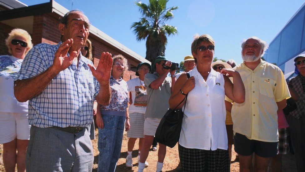 Turistas en el Principado del Río Hutt.