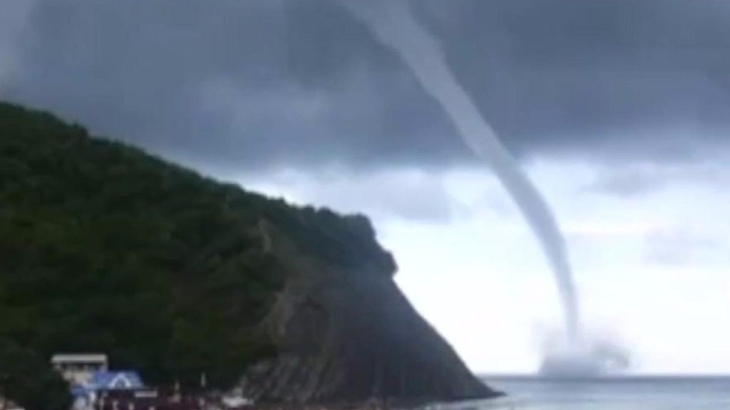 Waterspout over Black Sea in Russia