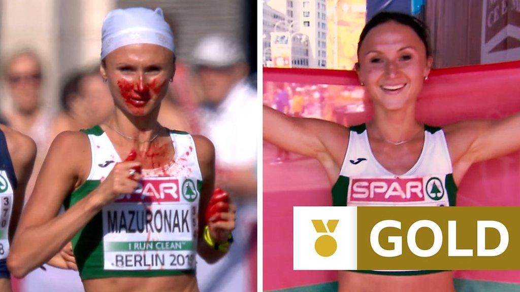 Belarusian wins marathon after nosebleed