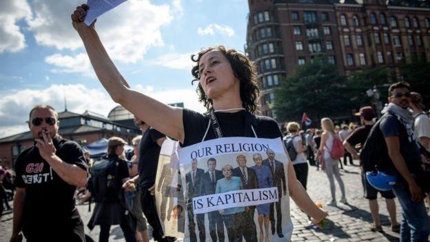 Protestas en Hamburgo.
