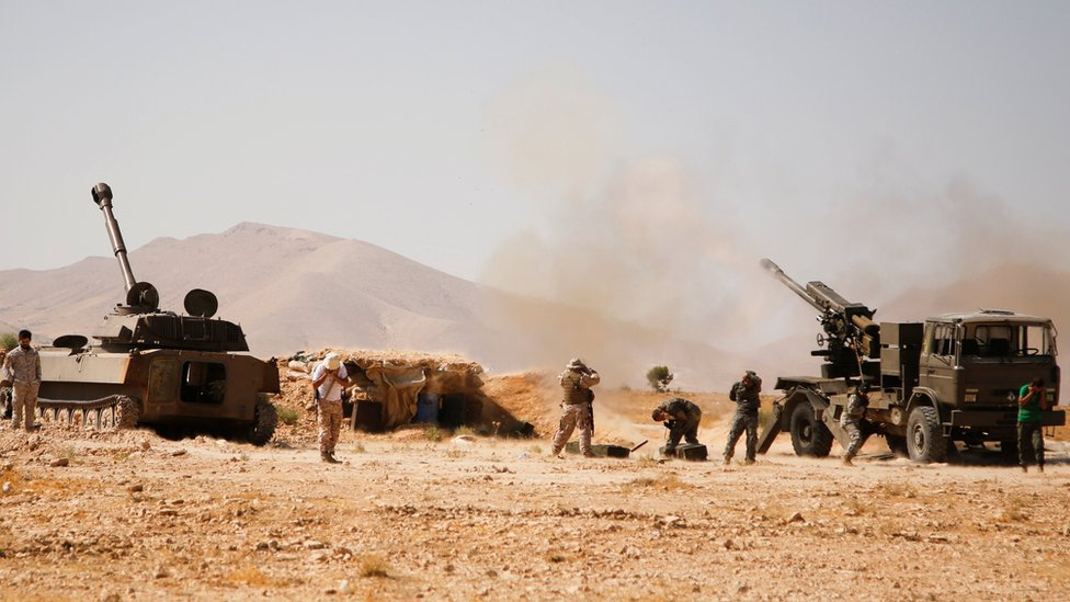 Fuerzas de Hezbolá en Siria