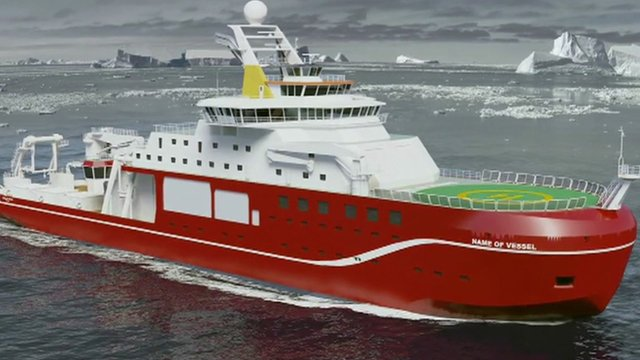 The polar research vessel currently being built at Cammell Laird on Merseyside