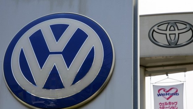 German carmaker Volkswagen reports a rise in quarterly results but warns of a number of 'challenges' ahead.