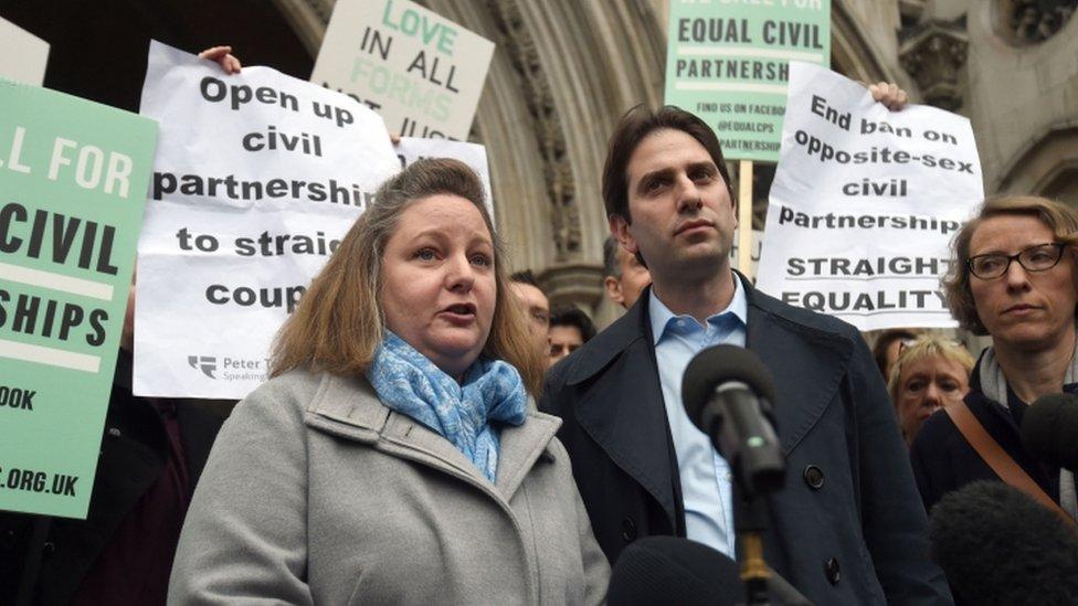 Heterosexual couple lose civil partnership challenge