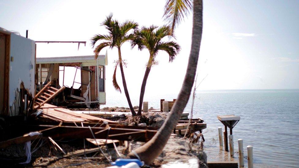 Irma, el segundo huracán más poderoso, amenaza a la Florida