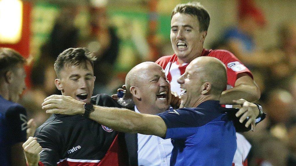 Accrington knock out Premier League Burnley