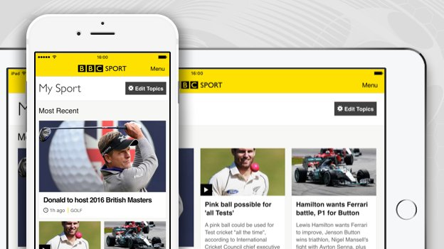 My Sport: All your interests in one place on the BBC Sport app