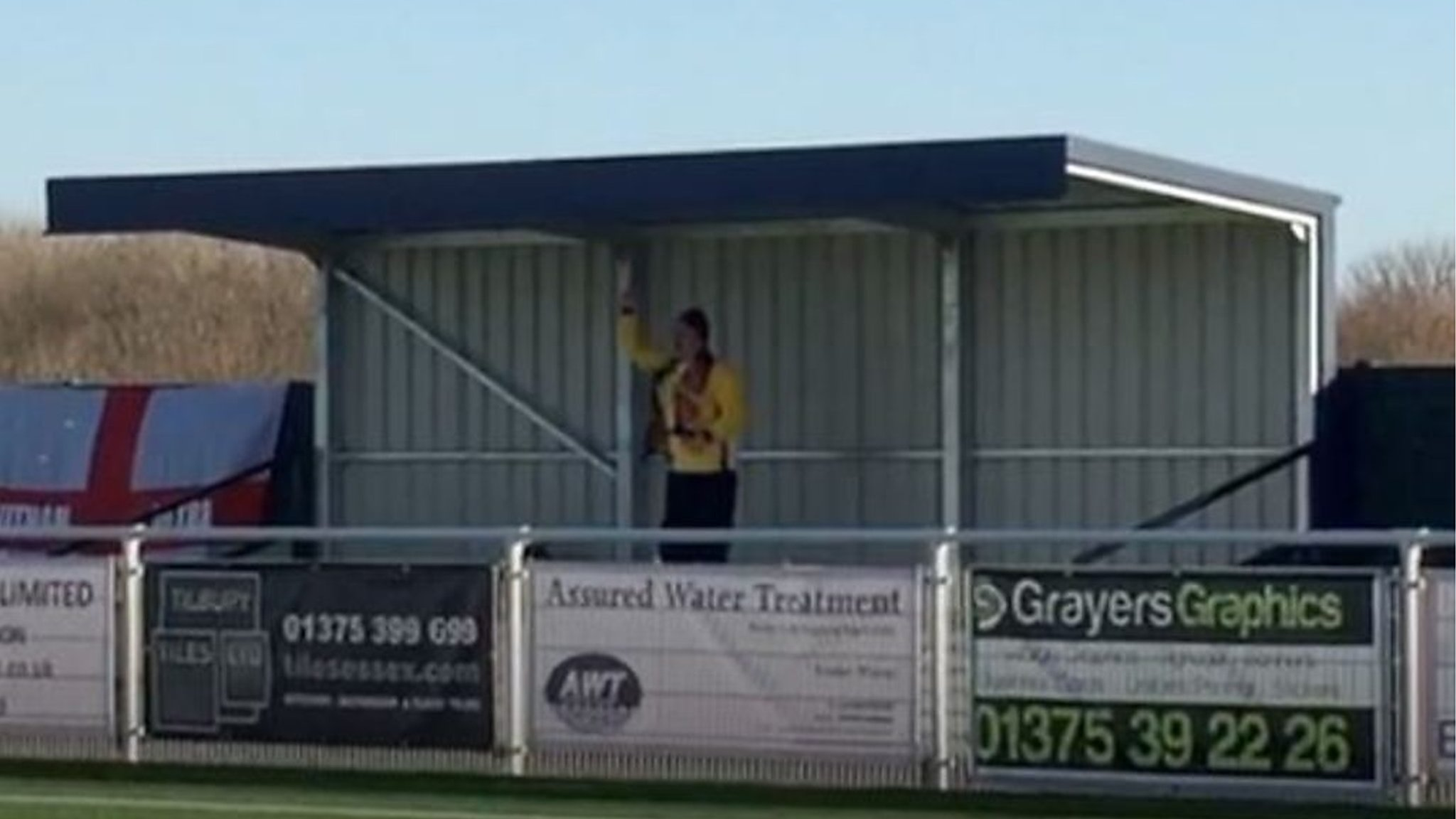 Witham Town FC celebrates solo away 'superfan'
