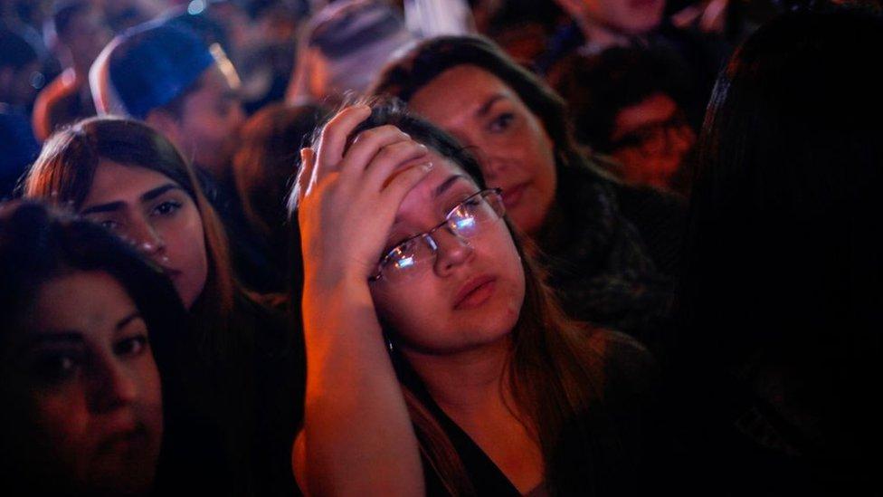 Jóvenes chilenos partidarios de Beatriz Sánchez.