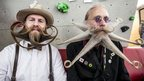 Beaded competitors from the World beard and moustache championships