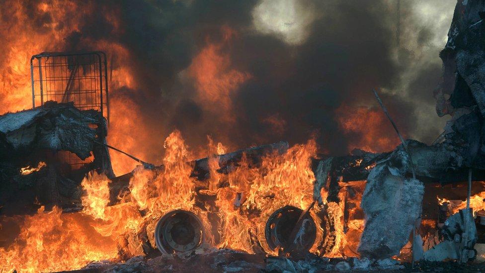 Pretoria burns