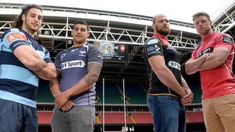 Judgement Day players at the Millennium Stadium
