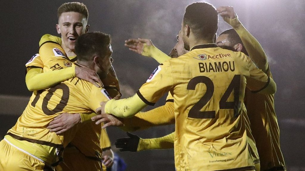 FA Cup: AFC Wimbledon 1-3 Sutton United highlights