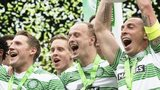 Celtic celebrate last seasons's league title success