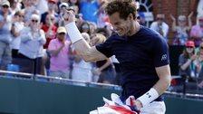 Andy Murray celebrates Davis Cup win